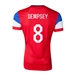 Nike USA 2014 'DEMPSEY 8' Away Authentic Soccer Jersey (University Red/Football White/Game Royal)