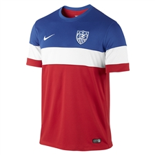 Nike USA 2014 Away Replica Soccer Jersey (University Red/Football White/Game Royal)