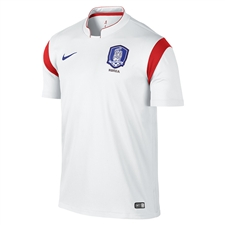 Nike South Korea 2014 Away Replica Soccer Jersey (Football White/Challenge Red/Old Royal)