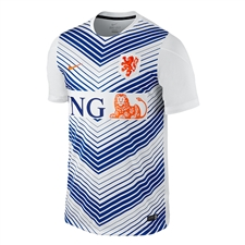 Nike Dutch 2014 Squad Soccer Pre-Match Training Top (White)