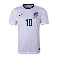 Nike England 'ROONEY 10'  '13 - '14 Home Replica Soccer Jersey (White)