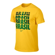 Nike Brasil Core Type Tee Shirt (Varsity Maize)