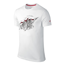 Nike England Core Plus Tee Shirt (White/University Red)