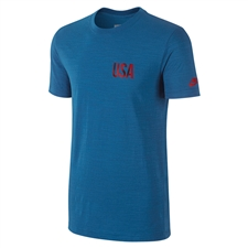 Nike USA Covert Tee Shirt (Military Blue)