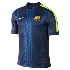 Nike FC Barcelona Squad Pre-Match Short-Sleeve Soccer Shirt (Loyal Blue/Volt)
