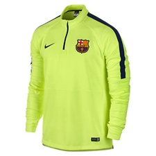 Nike FC Barcelona Squad Midlayer Long Sleeve Soccer Shirt (Volt/Loyal Blue)