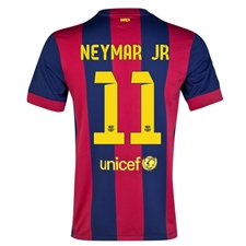 Nike FC Barcelona 'NEYMAR JR 11' '14-'15 Home Soccer Jersey (Loyal Blue/Noble Red/Sunlight)