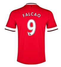 Nike Manchester United 'FALCAO 9' Home '14-'15 Replica Soccer Jersey (Diablo Red/Football White)