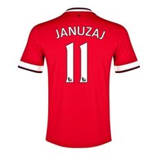 Nike Manchester United 'JANUZAJ 11' Home '14-'15 Replica Soccer Jersey (Diablo Red/Football White)