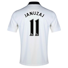 Nike Manchester United 'JANUZAJ 11' '14-'15 Away Replica Soccer Jersey (Football White/Black/Diablo Red)