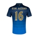 Nike Manchester City 'KUN AGUERO 16' Away '14-'15 Replica Soccer Jersey (Dark Obsidian/Game Royal/Vibrant Yellow)