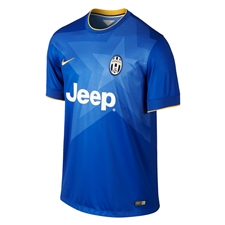 Nike Juventus '14-'15 Away Soccer Jersey (Bright Blue/Medium Blue/Pro Gold)