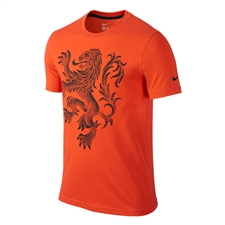 Nike Dutch Holland Core Plus Tee Shirt (Team Orange/Black)