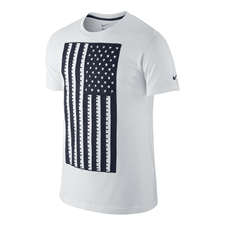 Nike USA Core Plus Tee Shirt (White/Obsidian)
