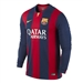 Nike FC Barcelona '14-'15 Home Long Sleeve Soccer Jersey (Loyal Blue/Noble Red/Sunlight)