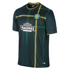 Nike Celtic FC Away '14-'15 Replica Soccer Jersey (Pro Green/Gold/Football White)