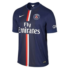 Nike Paris St. Germain  Home '14-'15 Replica Soccer Jersey (Midnight Navy/Pimento/Football White)