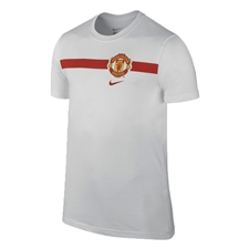 Nike Manchester United Core  Tee Shirt (White/Diablo Red)