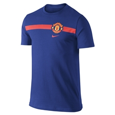 Nike Manchester United Core Tee Shirt (Old Royal)