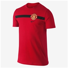 Nike Manchester United Core  Tee Shirt (Diablo Red/Black)