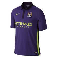 Nike Manchester City Third '14-'15 Replica Soccer Jersey (Court Purple/Grand Purple/Hot Lime)