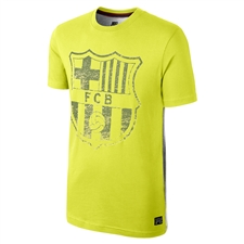 Nike FC Barcelona Covert Graphic Tee Shirt (Cyber/Dark Grey Heather)