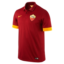 Nike A.S. Roma Home '14-'15 Replica Soccer Jersey (Team Red/Kumquat)