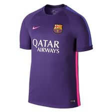 Nike FC Barcelona Squad Pre-Match Soccer Shirt (Court Purple/Hyper Pink)