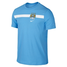 Nike Manchester City Core Tee Shirt (Football Blue)
