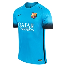 Nike FC Barcelona '15-'16 Third Match Soccer Jersey (Light Current Blue/Black)