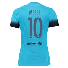 Nike FC Barcelona 'MESSI 10' '15-'16 Third Match Soccer Jersey (Light Current Blue/Black)