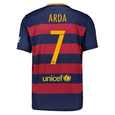 Nike FC Barcelona 'ARDA 7' 2015-'16 Home Soccer Jersey (Blue/Red)