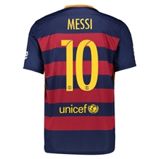 Nike FC Barcelona 'MESSI 10' '15-'16 Home Soccer Jersey (Loyal Blue/Storm Red/University Gold)