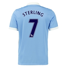 Nike Manchester City 'STERLING 7' Home '15-'16 Soccer Stadium Jersey (Field Blue/White/Obsidian)