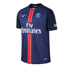 Nike Paris St. Germain Home '15-'16 Soccer Jersey (Midnight Navy/Dark Obsidion/Pimento/White)