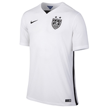 Nike USA 2015 Home Stadium Soccer Jersey (Football White/Black)