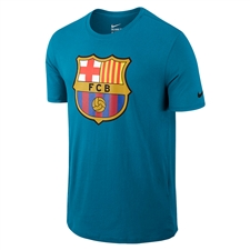 Nike FC Barcelona Crest Tee Shirt (Light Blue Lacquer/Black)