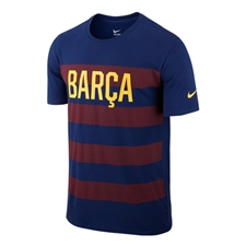 Nike FC Barcelona Match Tee Shirt (Blue/Red)