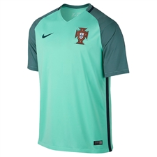 Nike Portugal 2016 Stadium Away Soccer Jersey (Green Glow/Nightshade)