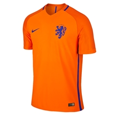 Nike Holland Dutch 2016 Vapor Match Home Soccer Jersey (Safety Orange/Concord)