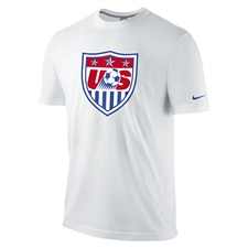 Nike USA Core Crest Tee Shirt (White)
