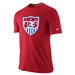 Nike USA Core Crest Tee Shirt (Red)