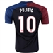 Nike USA 2016 'PULISIC 10' Vapor Match Away Soccer Jersey (Black/Game Royal/Challenge Red/White)
