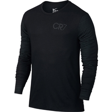 Nike Ronaldo CR7 Long Sleeve T-Shirt (Black/Black)