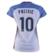 Nike Women's USA 2016 'PULISIC 10' Home Stadium Soccer Jersey (White/Game Royal/Midnight Navy)