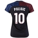 Nike Women's USA 2016 'PULISIC 10' Away Stadium Soccer Jersey (Black/Game Royal/Challenge Red/White)