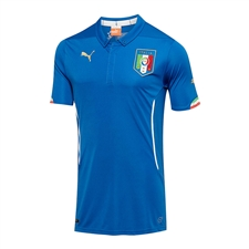 Puma Italy Home 2014 Replica Soccer Jersey (Team Power Blue)