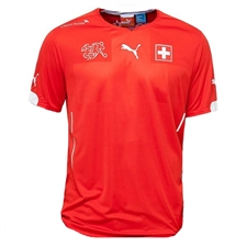 Puma Switzerland Home 2014-15 Replica Soccer Jersey (Puma Red/White)