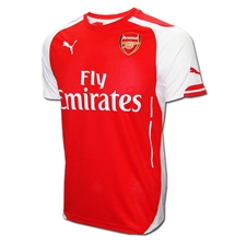 Puma Arsenal Home '14-'15 Replica Soccer Jersey (High Risk Red/White)