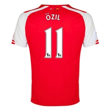 Puma Arsenal 'OZIL 11' Home '14-'15 Replica Soccer Jersey (High Risk Red/White)